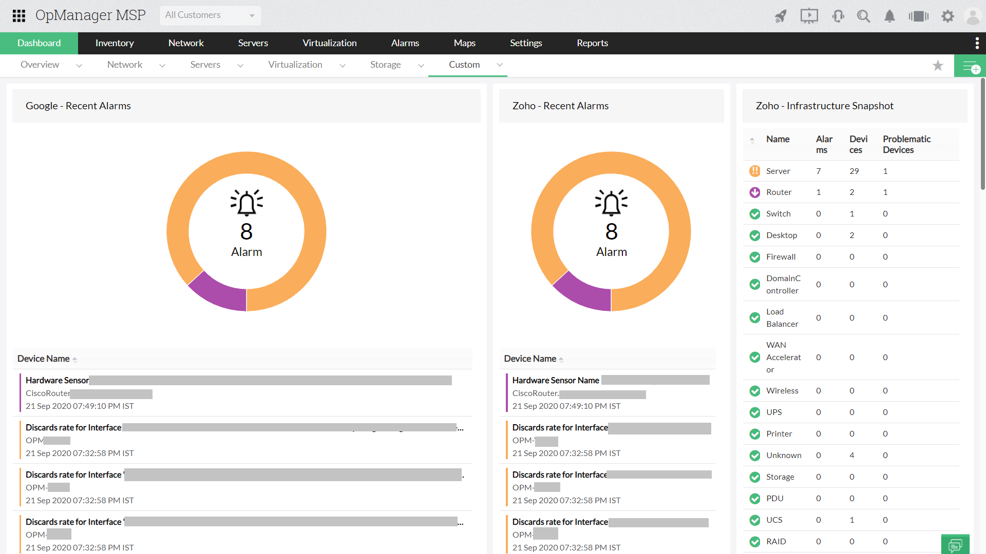 Network Monitoring Solution Snapshots- ManageEngine OpManager
