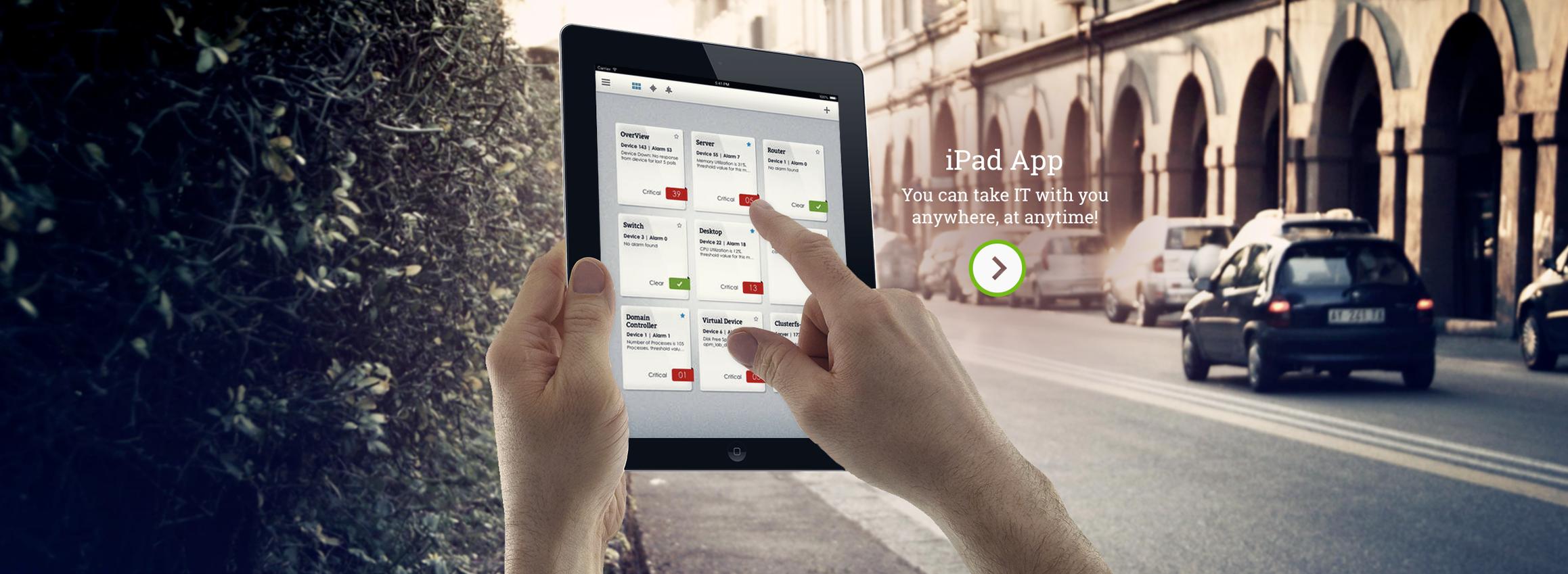 ManageEngine OpManager iPad App